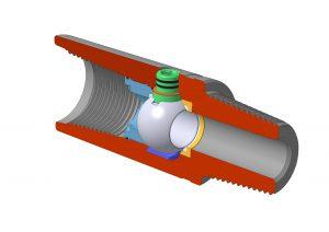 Кран КШЗ тип 1 для диаметра корпуса менее 120 мм