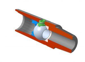 Кран КШЗтип 2 для диаметра корпуса более 120 мм