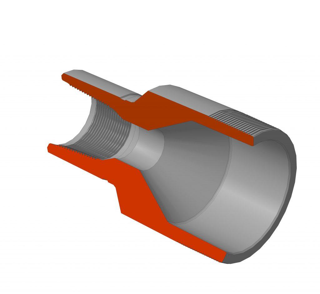 Переводник для труб нефтяного сортамента (комбинированный)